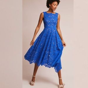 ANTHROPOLOGIE Tracy Reese Cerulean Sky Lace Dress